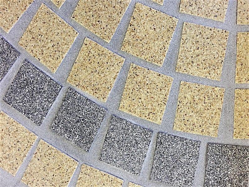Modelo Abanico-granito amarillo-gris 10x10